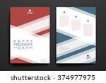 set of brochure  poster design... | Shutterstock .eps vector #374977975