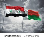 syria   madagascar flags are... | Shutterstock . vector #374983441