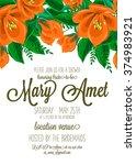 bridal shower invitation | Shutterstock .eps vector #374983921