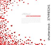 romantic red heart background.... | Shutterstock .eps vector #374985241