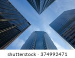 skyscrapers towards the sky | Shutterstock . vector #374992471