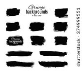 grunge ink hand drawn squares.... | Shutterstock .eps vector #374999551