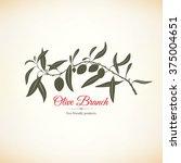 olive label  logo design. olive ... | Shutterstock .eps vector #375004651