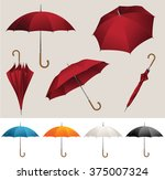 collection of opened  folded ... | Shutterstock .eps vector #375007324