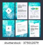set of brochure design  flyer ... | Shutterstock .eps vector #375012079