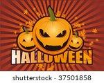 halloween funny pumpkins   Shutterstock .eps vector #37501858