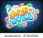sweet world game user interface ... | Shutterstock .eps vector #375020581