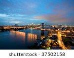 williamsburg bridge in new york ... | Shutterstock . vector #37502158