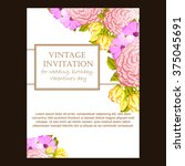 invitation with floral...   Shutterstock .eps vector #375045691