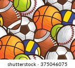sport ball seamless pattern