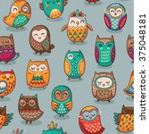 seamless pattern with tribal... | Shutterstock .eps vector #375048181