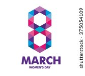 international woman day vector... | Shutterstock .eps vector #375054109