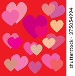 background heart | Shutterstock .eps vector #375054994