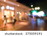 city on street at night. | Shutterstock . vector #375059191