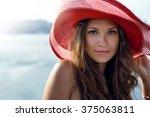 beautiful girl  business woman  ... | Shutterstock . vector #375063811