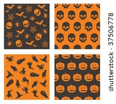 collection of black and orange... | Shutterstock .eps vector #37506778