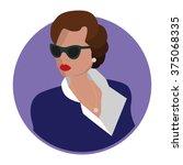 portrait rich elegant lady... | Shutterstock .eps vector #375068335
