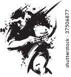 grunge rugby | Shutterstock .eps vector #37506877