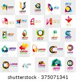 collection of colorful abstract ...   Shutterstock .eps vector #375071341