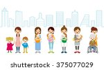 child care and caregiver  ... | Shutterstock .eps vector #375077029