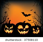 a halloween background with... | Shutterstock .eps vector #37508110