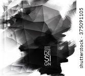abstract inkblot background.... | Shutterstock .eps vector #375091105
