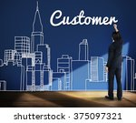 customer consumer business... | Shutterstock . vector #375097321