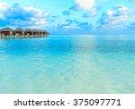 beautiful beach and tropical sea | Shutterstock . vector #375097771