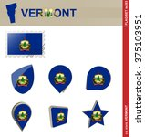 Vermont Flag Set  Us State ...