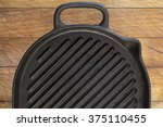 black used rough cast iron... | Shutterstock . vector #375110455