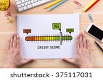credit score sketch on notebook | Shutterstock . vector #375117031