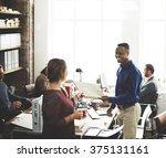 business team working office... | Shutterstock . vector #375131161