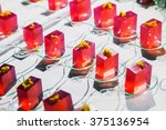 molecular gelatin cubes ...   Shutterstock . vector #375136954