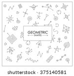 set of geometric shapes. trendy ... | Shutterstock .eps vector #375140581