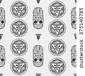 egypt minimal pattern | Shutterstock .eps vector #375140785