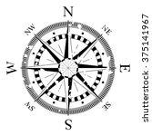 compass navigation dial  ... | Shutterstock .eps vector #375141967