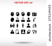 business man icons | Shutterstock .eps vector #375149455