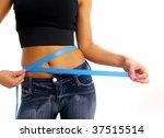 measure tape around slim...   Shutterstock . vector #37515514