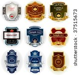 decorative labels collection   Shutterstock .eps vector #37515673