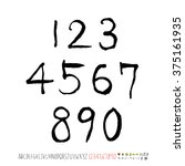 alphabet   number   handwriting ... | Shutterstock .eps vector #375161935