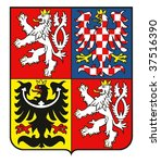coat of arms of the czech... | Shutterstock . vector #37516390