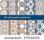 set of mexican stylized... | Shutterstock .eps vector #375166225