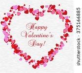 happy valentine's day card.  | Shutterstock . vector #375166885