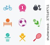 sport games  fitness icons.... | Shutterstock .eps vector #375169711