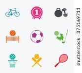 sport games  fitness icons.... | Shutterstock .eps vector #375169711