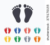 Child Pair Of Footprint Sign...