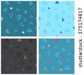 set of abstract seamless... | Shutterstock . vector #375174817