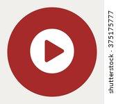 play circle navigation button... | Shutterstock .eps vector #375175777