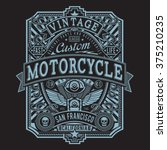 motorcycle typography  vintage... | Shutterstock .eps vector #375210235