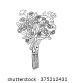 vector floral illustrated in... | Shutterstock .eps vector #375212431
